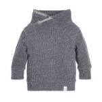 Stylish Loose Pique Applique Organic Baby Sweatshirt for Your Little Guy with Shawl Collar Design