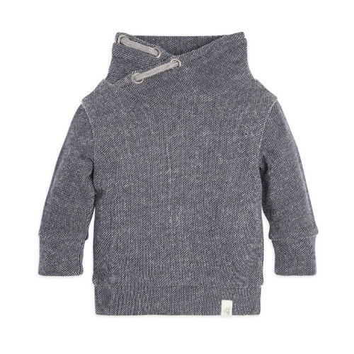 Loose Pique Applique Organic Baby Sweatshirt