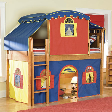 low loft tent bed & Low Loft Tent Bed Gives Complete Bedroom Fun For Your Kids With ...