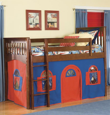 Low Loft Tent Bed Gives Complete Bedroom Fun For Your Kids