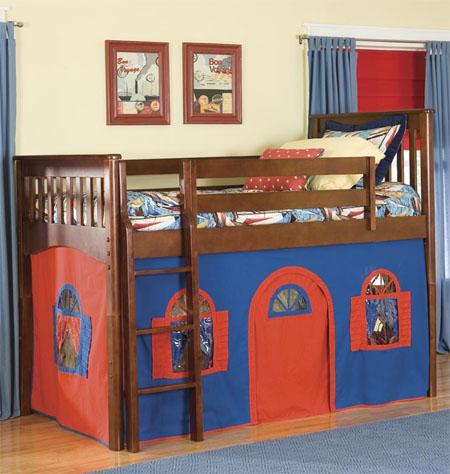 low loft tent bed