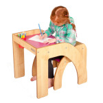 Luca & Company Fun Station Solo Modern Children Desk Features Space Saving Design