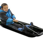 Lucky Bums Snow Kids Plastic Toboggan Sled with A Pull Rope and Built-in Handles