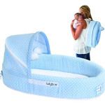 LulyBoo Baby Lounger To Go : Baby Travel Bed with Waterproof Bottom