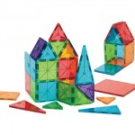 Magna-Tiles Clear Colors 32 Piece Set: Children Can Build Flat or 3D Shapes With Endless Possibility