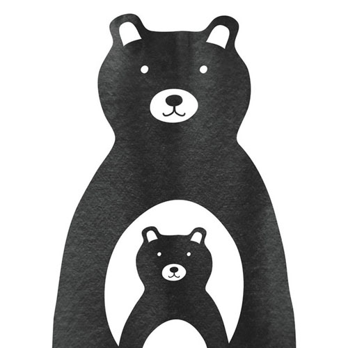 Mama and Me Bear by Lehan Veenker - Animal Arts for Baby Nursery