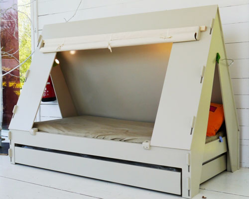 Kids Tent Bedroom Cabin Bed is A Cool Bed for Kid from Math by Bols