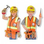 Wanna Be Like Dad? Construction Worker Costume Deluxe Role Play Set From Melissa and Doug
