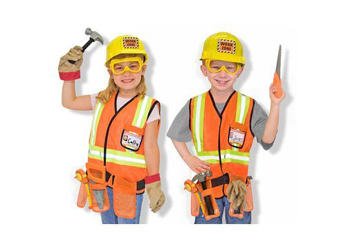 Construction Worker Costume Deluxe Role Play Set from Melissa and Doug