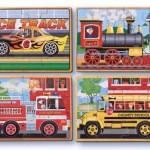 Melissa and Doug Deluxe Vehicles in a Box Jigsaw Puzzles To Develop Pattern Recognition Skill of Your Toddler