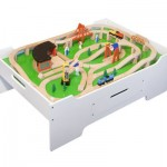 Melissa and Doug Deluxe Wooden Multi-Activity Table With Jumbo Sized Drawer