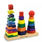 Melissa & Doug Geometric Stacker for Great Hand-Eye Coordination Skill