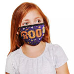 Washable Cloth Face Mask with Mickey and Minnie Mouse Halloween Theme