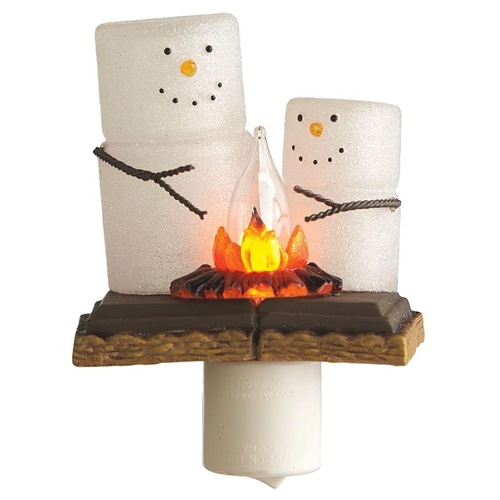 Midwest S'mores Campfire Flickering Night Light
