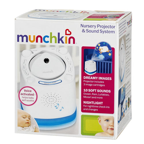 Munchkin Nursery Projector And Sound System Helps Baby