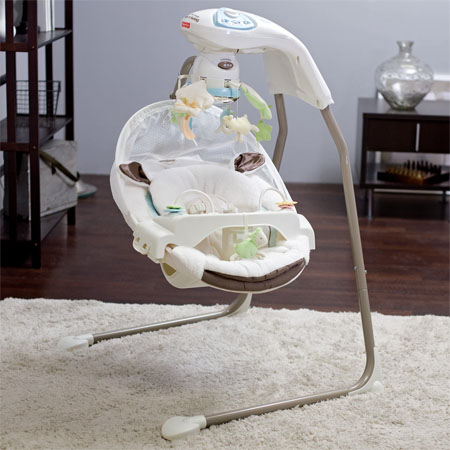 little lamb cradle baby swing