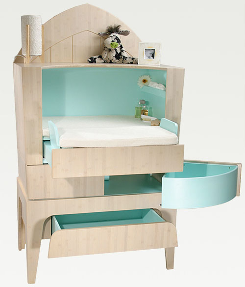 baby modern furniture. interesting baby nappy changing commode from castor and chouca in baby modern furniture