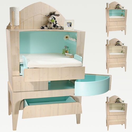 Nappy Changing Commode from Castor and Chouca