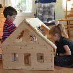 Natural Wooden Our Maine Dollhouse from Elves & Angels