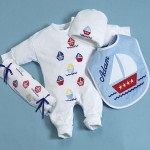 Personalized Nautical Layette Set