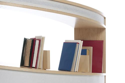 Nautilus Bookshelf by Alicia Bastian