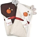 Be practical and give babies an organic hooded towel