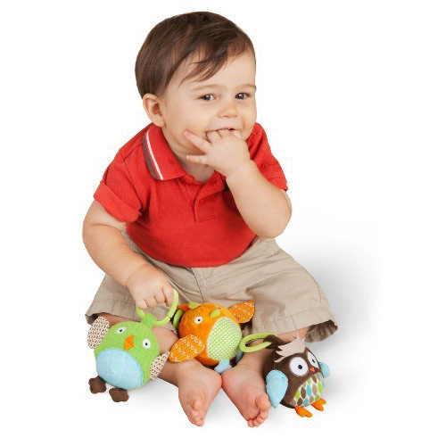 Owl Toys For Babies - Skip Hop Treetop Friends Animal Ball Trio