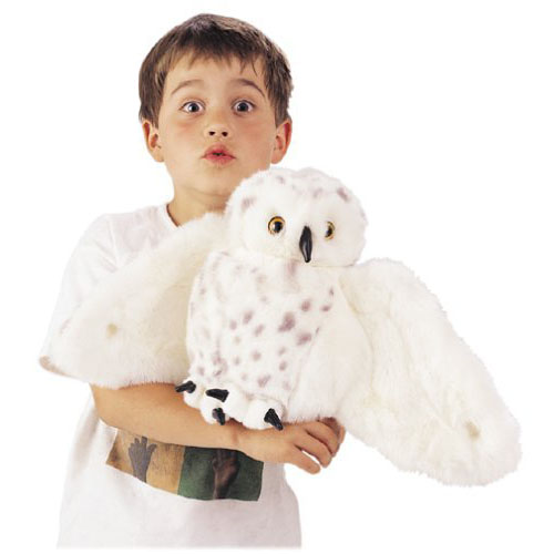 Owl Toys For Babies - Snowy Owl Puppet