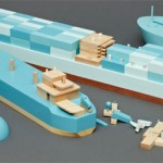 Papa Foxtrot Wooden Cargo Ship Series by Studio PostlerFerguson