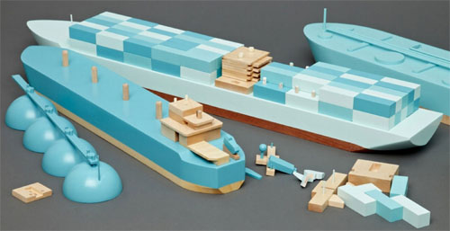 Papa Foxtrot Wooden Cargo Ship Series
