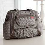 Pewter Dot Decorated Studio Diaper Bag Makes Diaper Carrying Easier With Ultimate Style