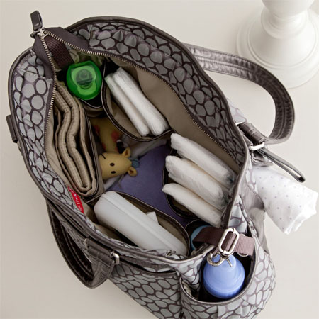 Pewter Dot Decorated Studio Diaper Bag