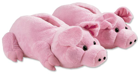 Animal Slippers - Pig Slippers