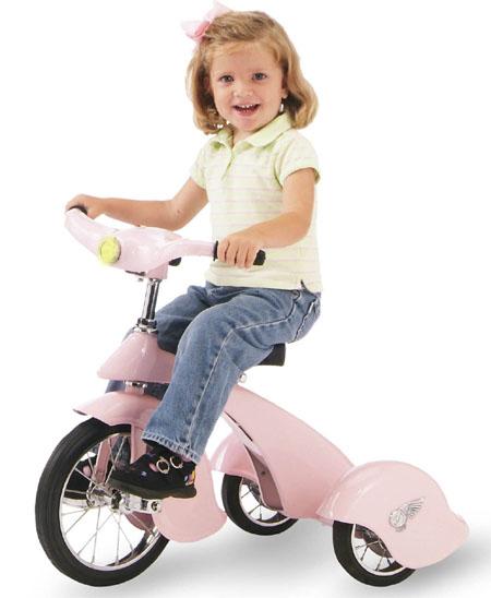 pink pegasus retro tricycle