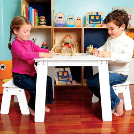 Pkolino Chalk Table and Benches