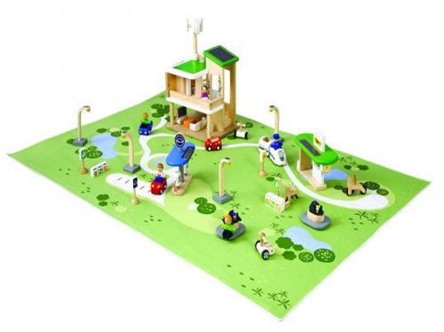 Plan Toys Eco Town Deluxe Adventure Set Teaches Your Children About Traffic and Transportation