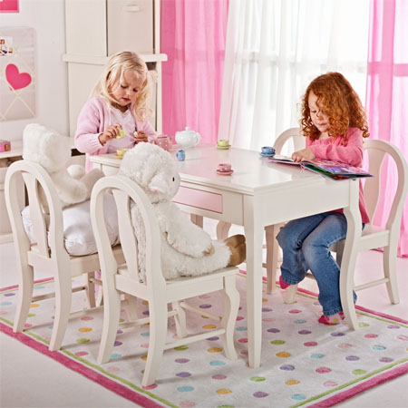 Plum Garden Kids Play Table And Chair Set Enhance The Decor Of Any – Girls Table and Chair