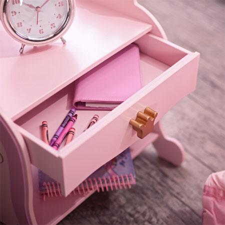 princess toddler bedside table