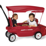 Radio Flyer The Ultimate Comfort Wagon with Multiple Riding Options and Expandable Rear Storage