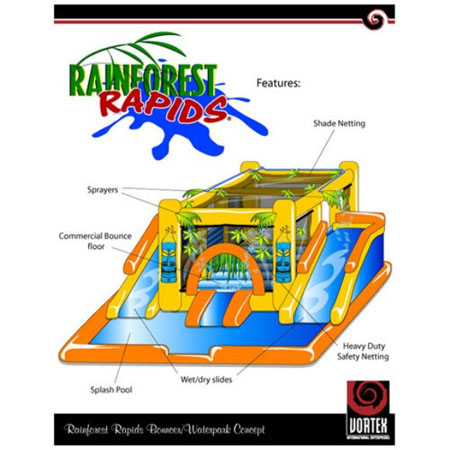 rainforest rapids bounce house