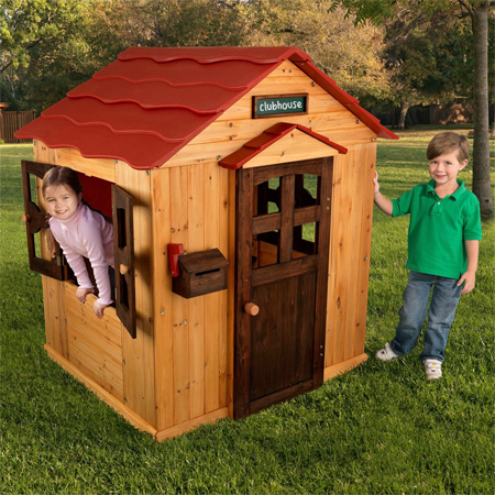 red roof outdoor playhouse