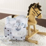 Rockabye Baby Personalized Rocking Horse With Plush Toy and Layette Gift Set