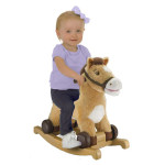 Rockin' Rider Charger 2-in-1 Pony Ride-On Can Sing and Talks to Entertain Your Children