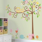 Nursery Accessories : Brighten Up Your Baby's Room Decor With RoomMates Scroll Tree Peel & Stick Wall Decal Megapack