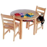 Round Table And Chair Set Ensures Complete Pleasure To Your Kids When Studying Or Playing