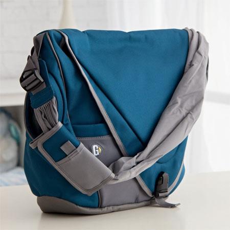 Sea Blue Messenger Diaper Bag