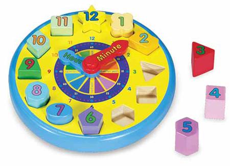 Wooden Shape Shorting Clock