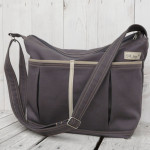 Modern Gray Canvas Diaper Tote Bag from SKModell