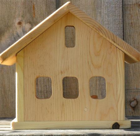 small wooden barn