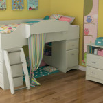 South Shore Imagine Collection Twin Loft Bed Kit - Modern Loft Bed with a Storage Unit